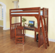 Discovery World Furniture Merlot Convertible Bed Twin over Desk